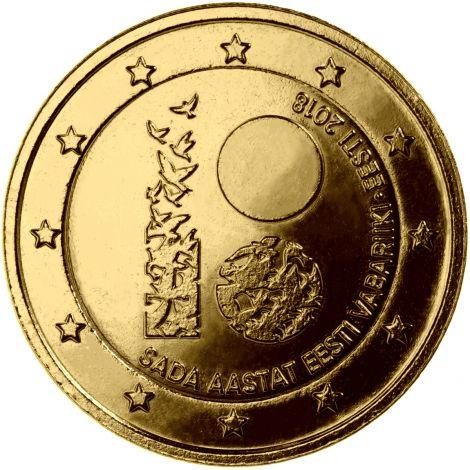 Viro 2018 2 € Itsenäisyys 100 vuotta KULLATTU