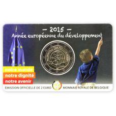 Belgia 2015 2 € Kehitysyhteistyön eurooppalainen teemavuosi, Ranska COINCARD