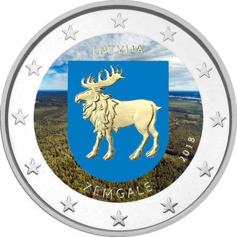 Latvia 2018 2 € Zemgale VÄRITETTY