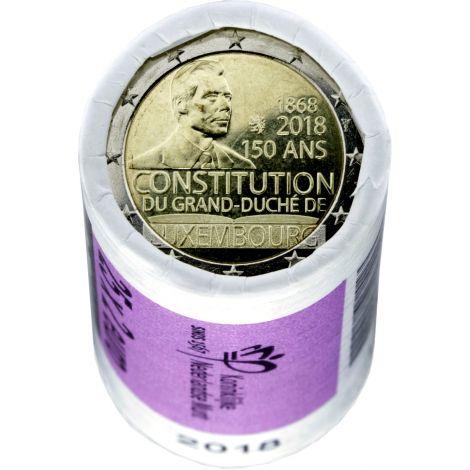 Luxemburg 2018 2 € Perustuslaki 150 vuotta RULLA