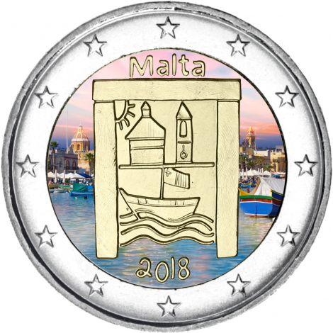 Malta 2018 2 € Kulttuuriperintö VÄRITETTY