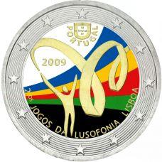 Portugali 2009 2 € Lusophony Games VÄRITETTY