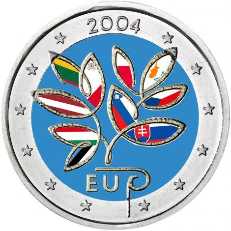 Suomi 2004 2 € EU Laajentuminen VÄRITETTY