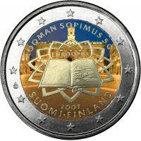 Suomi 2007 2 € Rooman sopimus VÄRITETTY
