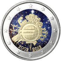Suomi 2012 2 € Euro 10 vuotta VÄRITETTY