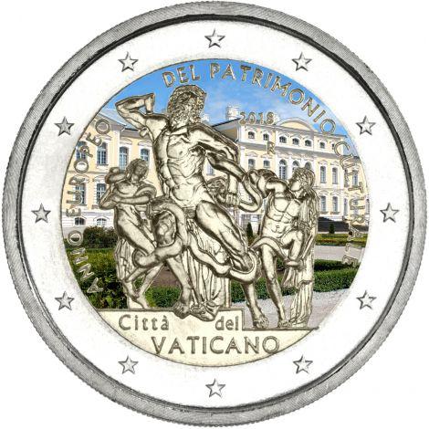 Vatikaani 2018 2 € Laokoon-ryhmä VÄRITETTY