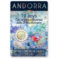 Andorra 2018 2 € Ihmisoikeudet COINCARD