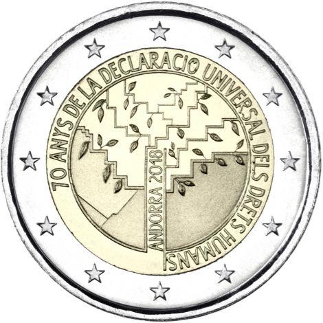 Andorra 2018 2 € Ihmisoikeudet BU