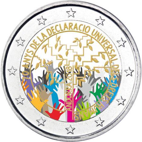 Andorra 2018 2 € Ihmisoikeudet VÄRITETTY