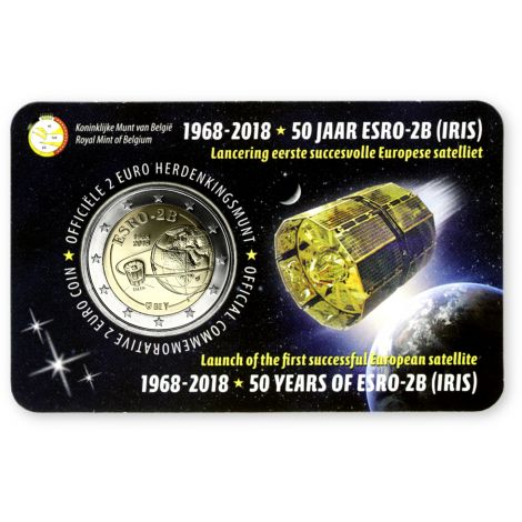Belgia 2018 2 € ESRO-2B - hollanti COINCARD