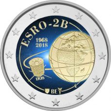 Belgia 2018 2 € ESRO-2B VÄRITETTY