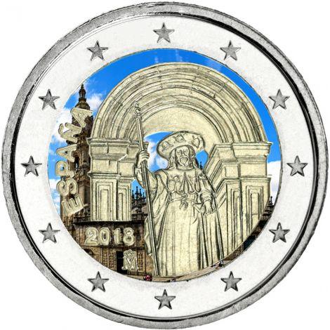 Espanja 2018 2 € Santiago VÄRITETTY