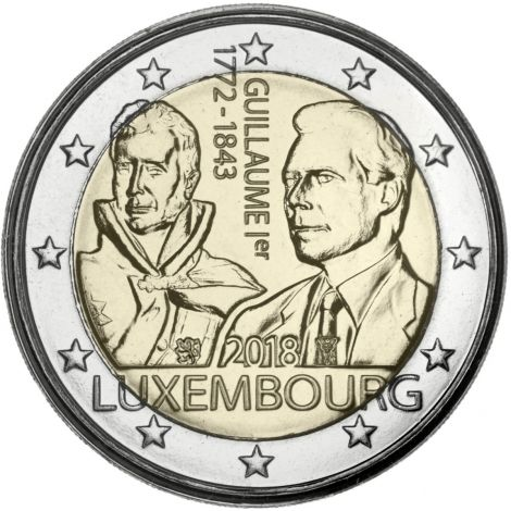 Luxemburg 2018 2 € Guillaume I UNC