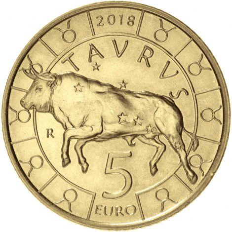 San Marino 2018 5 € Eläinrata - Härkä UNC