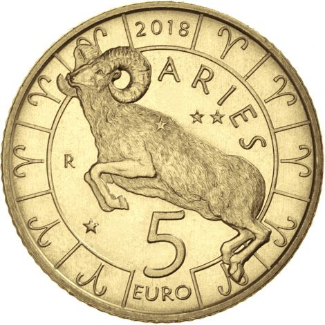 San Marino 2018 5 € Eläinrata - Oinas UNC