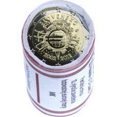 Slovakia 2012 2 € Euro 10 vuotta RULLA