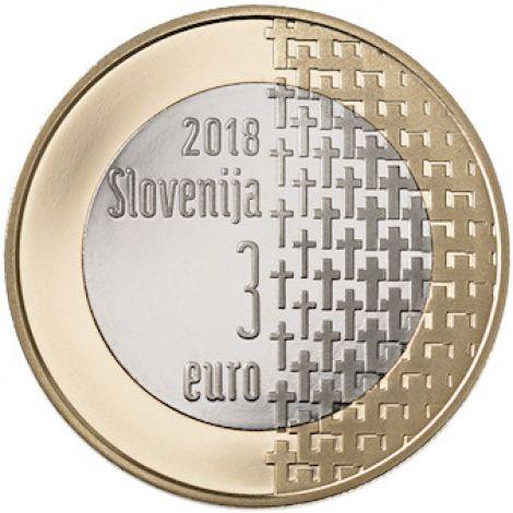 Slovenia 2018 3 € Ensimmäisestä maailmansodasta 100v UNC