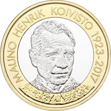 Suomi 2018 5 € Suomen presidentit - Mauno Koivisto UNC