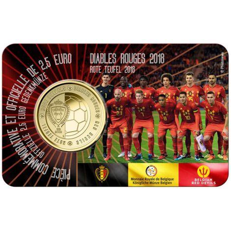 Belgia 2018 2,5 € Red Devils FR COINCARD