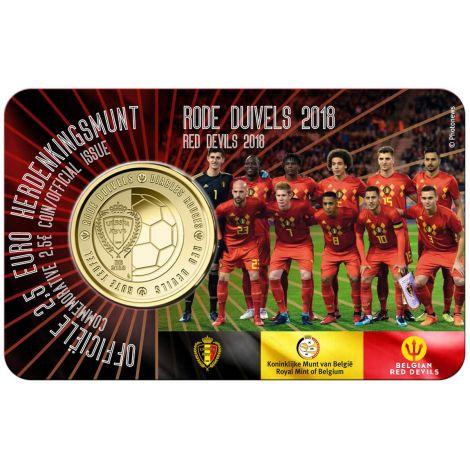 Belgia 2018 2,5 € Red Devils NL COINCARD