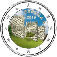 Espanja 2019 2 € Avila VÄRITETTY
