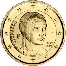 Italia 2019 2 € Leonardo da Vinci KULLATTU
