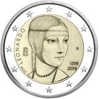 Italia 2019 2 € Leonardo da Vinci UNC