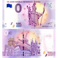 Itävalta 2018 0 € Tasavalta 100 vuotta (NEAE 2018-1) UNC