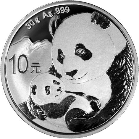 Kiina 2019 10 Yuan Panda 1 Unssi HOPEA