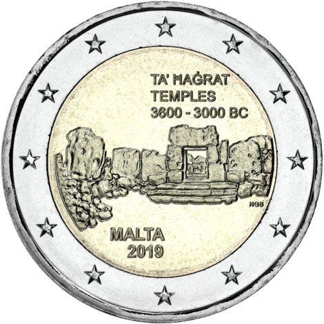 Malta 2019 2 € Ta' Hagrat temppelit UNC