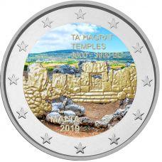 Malta 2019 2 € Ta' Hagrat temppelit VÄRITETTY