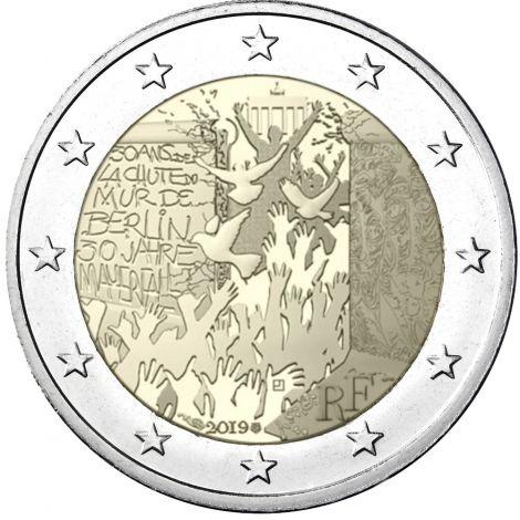Ranska 2019 2 € Berliinin muurin kaatumisesta 30 vuotta UNC