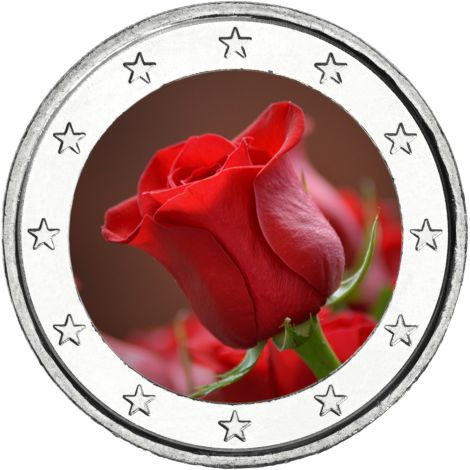 2 € Ystävänpäivä - Ruusu VÄRITETTY