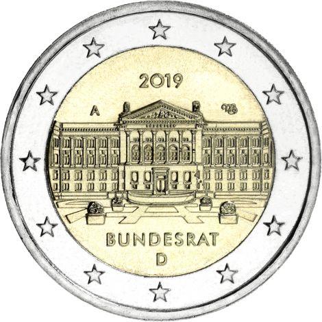 Saksa 2019 2 € Bundesrat A UNC