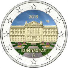 Saksa 2019 2 € Bundesrat VÄRITETTY