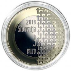 Slovenia 2018 3 € Ensimmäisestä maailmansodasta 100v PROOF