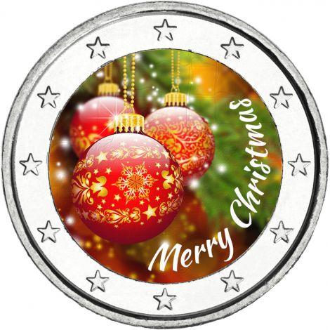 Suomi 2 € Hyvää Joulua VÄRITETTY