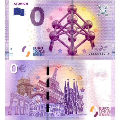 Belgia 2017 0 € Atomium (ZEKG 2017-1) UNC