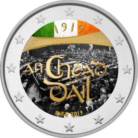 Irlanti 2019 2 € Dail Eireann VÄRITETTY