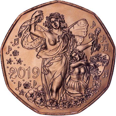 Itävalta 2019 5 € Uusivuosi UNC