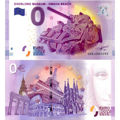 Ranska 2017 0 € Overlord Museum - Omaha Beach (UEKJ 2017-1) UNC