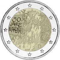 Saksa 2019 2 € Berliinin muurin kaatumisesta 30 vuotta A UNC
