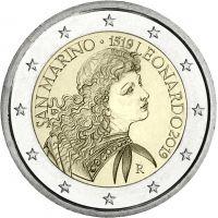 San Marino 2019 2 € Leonardo da Vinci UNC