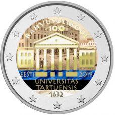 Viro 2019 2 € Tarton yliopisto 100 vuotta VÄRITETTY