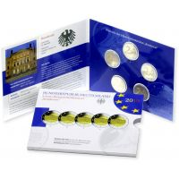 Saksa 2019 2 € Bundesrat ADFGJ PROOF