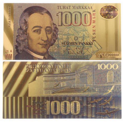 Suomi 1986 1000 Markkaa KULLATTU
