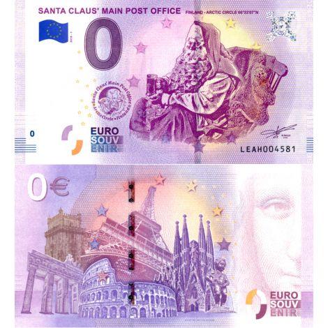 Suomi 2018 0 € Joulupukin pääposti I (LEAH 2018-1) UNC