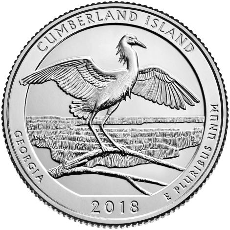 "USA 2018 $0,25 Georgia Cumberland Island National Seashore ""P"" UNC"
