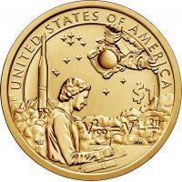 """USA 2019 $1 Sacagawea Native American """"P"""" UNC"""