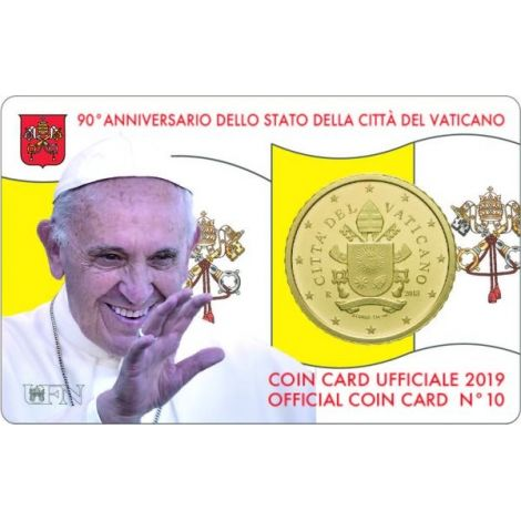 Vatikaani 2019 50 c COINCARD